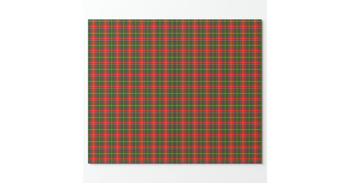 Enveloppe de cadeau cossaise de tartan de papier cadeau - Papier cadeau personnalisable ...