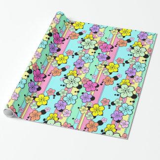 Enveloppe de cadeau en pastel de fleurs de papier cadeau noël