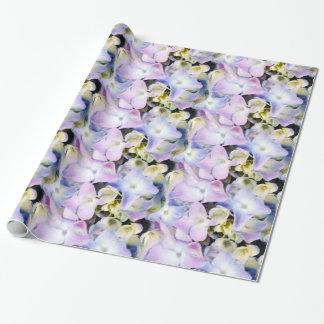 Enveloppe de cadeau florale d'hortensia papier cadeau