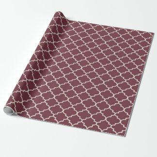 Enveloppe de cadeau marocaine rouge poussiéreuse papier cadeau