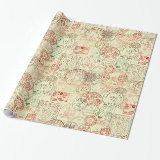 Enveloppe de cadeau vintage de motif de Noël Papier Cadeau Noël