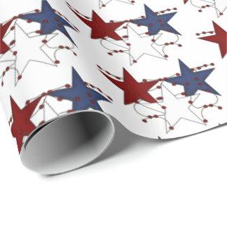 Enveloppe de partie carrelée par étoiles papier cadeau