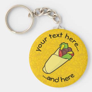 Enveloppe de sandwich à tortilla porte-clé rond