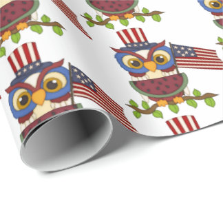 Enveloppe patriotique de partie de barbecue de papier cadeau