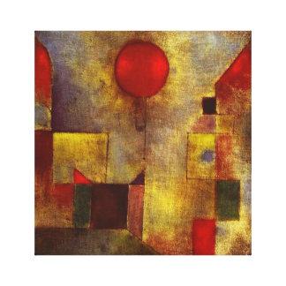 Enveloppe rouge de toile de ballon de Paul Klee Toiles