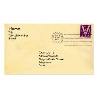 Enveloppe vintage cartes de visite personnelles