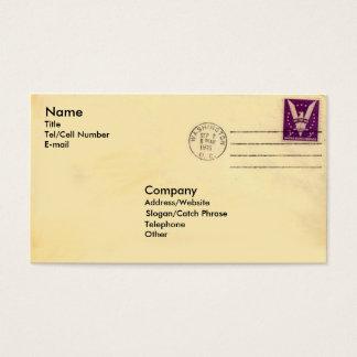 Enveloppe vintage cartes de visite