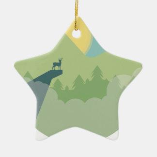 Environnement de forêt de Minimalistic Ornement Étoile En Céramique