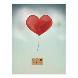 Envoi de votre amour carte postale