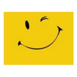 Envoyez un sourire - carte postale souriante de