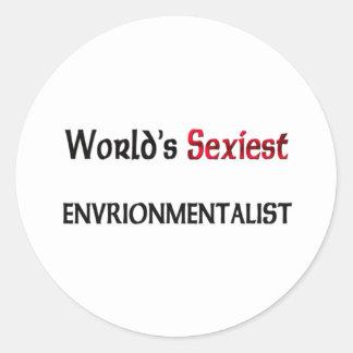 Envrionmentalist le plus sexy du monde autocollants
