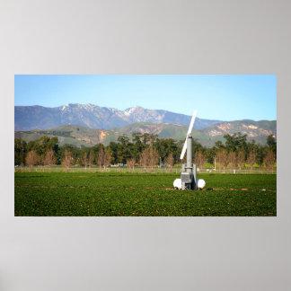 Éolienne agricole affiche