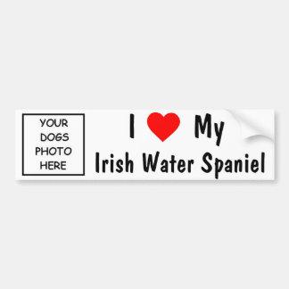 Épagneul d'eau irlandaise autocollant de voiture
