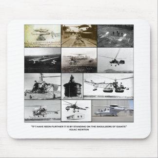 Épaules d'hélicoptère de géants tapis de souris