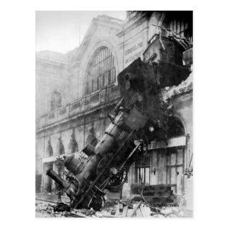Épave de train à la carte postale de Montparnasse