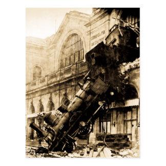 Épave de train au cru 1895 de Montparnasse Carte Postale