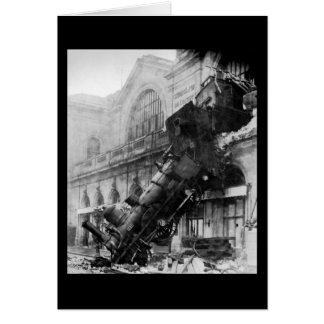 Épave de train chez Montparnasse, catastrophe de Carte De Vœux