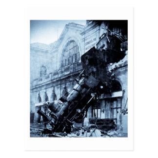 Épave de train chez Montparnasse, le 22 octobre Carte Postale