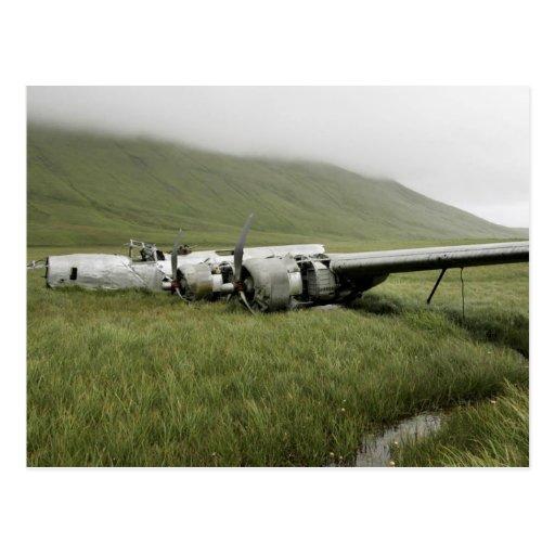 Épave des avions de la deuxième guerre mondiale su cartes postales