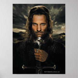 Épée d'Aragorn vers le bas Posters