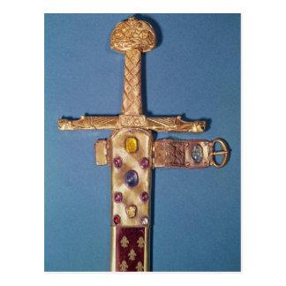 Épée de couronnement des rois de la France Carte Postale