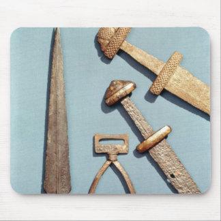 Épées, étrier et fer de lance de Viking Tapis De Souris