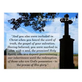Ephesians 1 carte de mémoire croisée de l'écriture