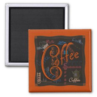 Épice de café magnet carré
