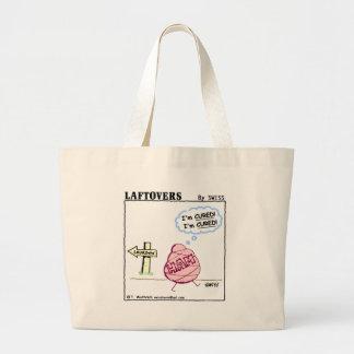 Épicerie réutilisable de bande dessinée drôle de grand tote bag