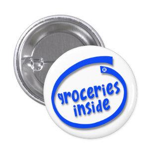 Épiceries à l intérieur badges avec agrafe
