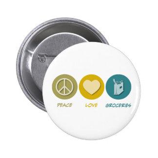 Épiceries d'amour de paix badge rond 5 cm