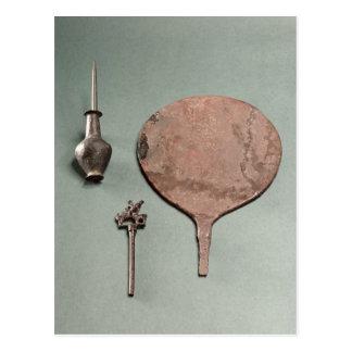 Épingle à cheveux de cuivre, tige de collyrium carte postale
