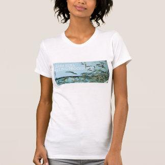 Épluchage de rufa de Garra T-shirts