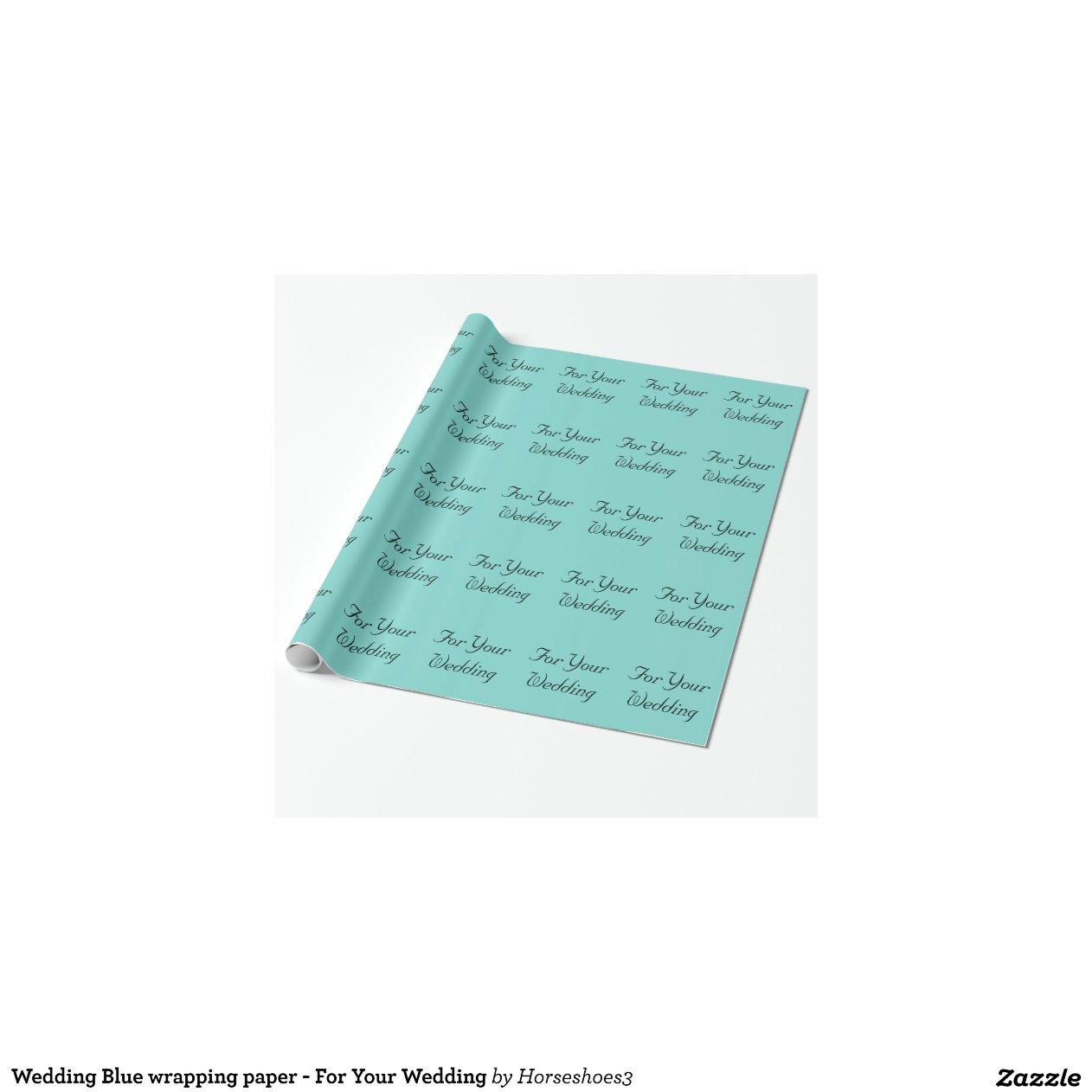 Pousant le papier d 39 emballage bleu pour votre papier cadeau no l zazzle - Ou acheter du papier cadeau ...