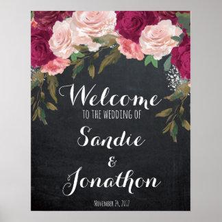 Épousant le tableau Bourgogne de signe bienvenu