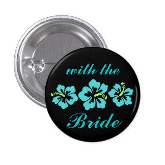 Épousant l'ensemble - tropical - bleu de ketmie badge