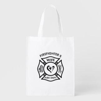 Épouse de sapeurs-pompiers sac réutilisable