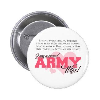 Épouse fière d'armée badge avec épingle
