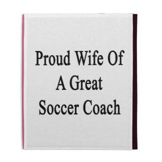 Épouse fière d'un grand entraîneur du football coques iPad folio