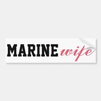 Épouse marine autocollant de voiture