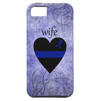 Épouse mince de police de coeur de Blue Line Étui iPhone 5
