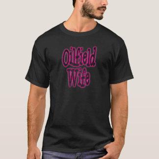 Épouse rose/noire de gisement de pétrole de t-shirt