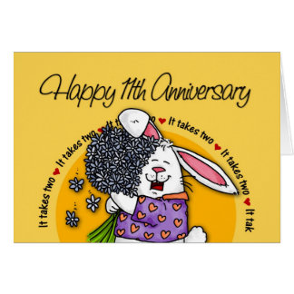 Épouser - 11ème anniversaire heureux cartes