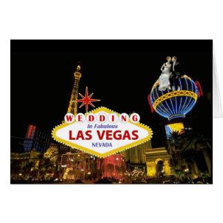 Épouser à Las Vegas fabuleux avec la jeune mariée Carte De Vœux