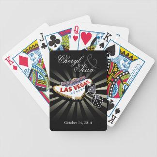 Épouser à Las Vegas noir et argenté de Las Vegas s Cartes À Jouer
