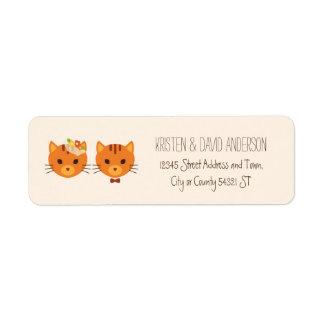 Épouser (crème) lunatique de chats de forêt étiquette d'adresse retour