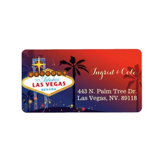 Épouser crépusculaire illustré de Las Vegas Étiquette D'adresse