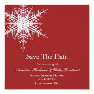 Épouser dans des économies d'hiver la date carton d'invitation  13,33 cm