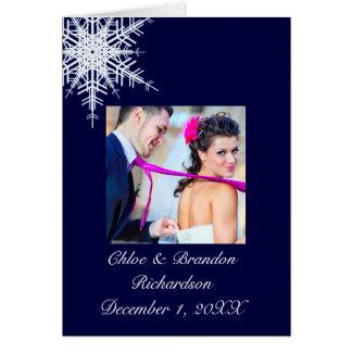 Épouser dans le carte de remerciements d'hiver