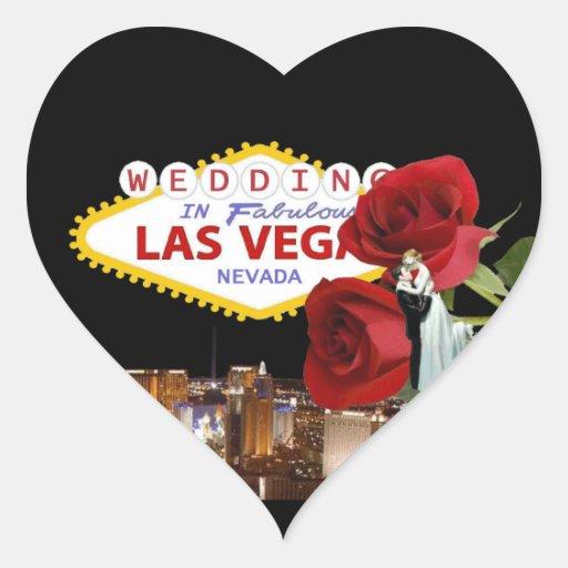 Épouser dans les roses fabuleux de Las Vegas avec Autocollant En Cœur